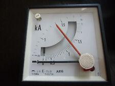 AEG Kilo-Amperemeter 0-1,8 0-3 kA Amperemeter analog Messgerät Einbaumessgerät