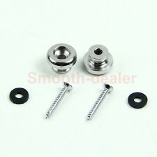2 Mandolin  For Guitar Chrome Strap Button Locks Screws Washer Replacement Part