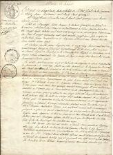 Sèvres (92) Mariage Jalabert-Legendre 1815 + Contrat de mariage. Rare Lot.