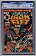 Marvel Premiere #15 May 1974 CGC VF- 7.5 WHITE 1st app Iron Fist Harold Meachum