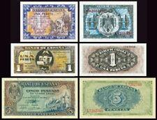 Facsimil Billetes 1 - 1 - 5 pesetas Septiembre/Junio 1940 - Reproductions