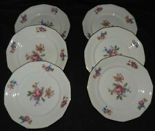 J} Lot x6 assiettes en Porcelaine (fleurs...) -lot n°1-