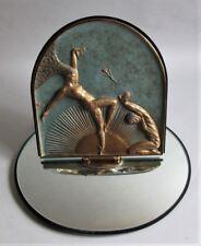 "Superb & Large ERTE ART DECO Rotating Vanity Mirror ""Femme Fatale"" c. 1985  MINT"