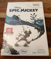 NINTENDO WII GAME DISNEY EPIC MICKEY LOVELY CONDITION WITH MANUAL