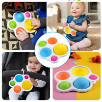 Silicone Baby Simple Multiple Dimple Sensory Fidget Toys Early Educational Toy