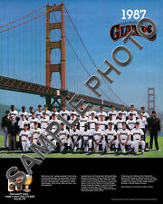 1987 SAN FRANCISCO GIANTS 8X10 TEAM PHOTO CLARK DAVIS BRENLY MALDONALDO WILLIAMS