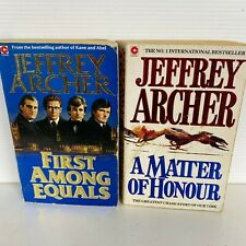 2 Lot Jeffrey Archer Paperback Books-A Matter of Honour & First Among Equals