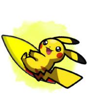 Ultra Pokemon Sun and Moon Surfing Pikachu