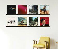 Vinyl Record Shelf Set of 8 - Records Storage Holder - LP Album Display Shelves