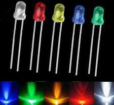 1005001000pcs 3mm White Green Red Blue Yellow Led Light Bulb Emitting Diode S
