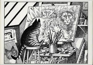 B Kliban Cats CAT ARTIST Vintage ORIGINAL Funny Cat Art Print