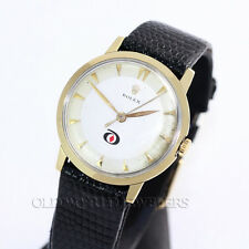 Rolex Vintage 14K Gold Dress Watch with Company Logo Diamond Alkali 1960s