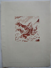 Ludwig Heinrich Jungnickel Hirsche auf der Flucht Orig Lithografie 1920