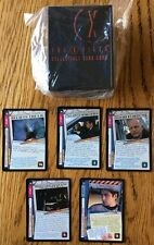 X-Files CCG Exclusive 5 Card Promo Set Believe The Lie Good Fortune Call On Us +