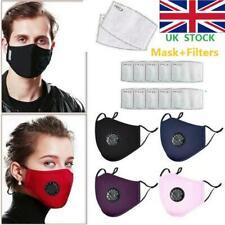 2/3pcs PM2.5 Anti Haze Fog Dust Air Pollution Reusable Face Mask +Carbon Filter