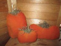 Primitive Pumpkins - set of 3 - Fall/Halloween
