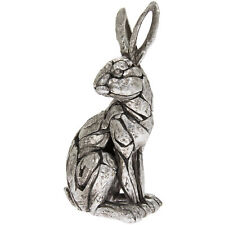 Natural World Sitting Hare Ornament Figurine Carved Stone-Like Style Sculpture
