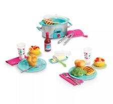 """American Girl TRULY ME SLOW COOKER DINNER SET for 18"""" Dolls Food Play Plates NEW"""