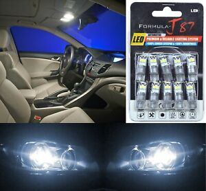 LED 3030 Light White 5000K 168 Ten Bulbs Interior Dome Replacement Lamp Upgrade