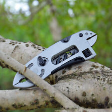 Outdoor Survival Hand Tool Pocket Screwdriver Plier Knife Kit Wrench Jaw Spanner