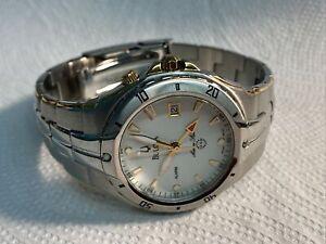 Bulova 98H01 Marine Star Chronograph Alarm Tachymeter Two Tone  Men's Watch
