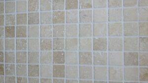 CLASSIC TUMBLED MOSAICS 23x23mm Travertine Limestone Wall Tiles 1m2 INC VAT