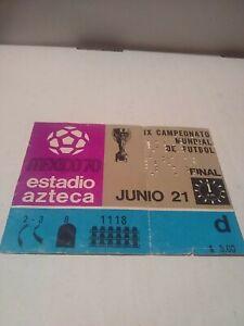 VTG RARE SOCCER WORLD CUP TICKET MEXICO 1970 JUNIO 21 ORIGINAL