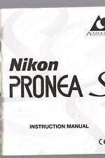 GENUINE ORIGINAL NIKON CAMERA MANUAL PRONEA S