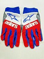 Alpinestars Racefend Gloves White/Red/Blue 2X-Large 3563519-237-XXL