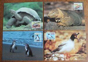 Ecuador – 1992 WWF Galapagos PHQs Set With FDI Cancels Lovely Lot (Se6)