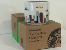 """2015 Starbucks """"YOU ARE HERE"""" YAH Ornament Series, Boston City 2 oz Limited"""