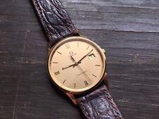 Excellent 9ct Gold Omega Seamaster Gents Wristwatch Watch Swiss Quartz Movement