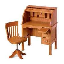 American Girl Kit's School Desk & Swivel Chair NIB Roll Top Nanea FAST SHIPPING!