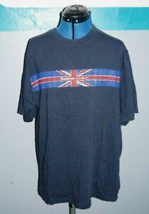 Mens REEBOK  CLASSIC T-shirt vintage/retro british flag/union jack casual LARGE