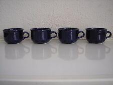 Four Vintage Cobalt Blue Waechtersbach Coffee Cups West Germany
