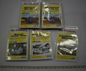 Lot 10-54 * HO Scale Rix Products 5 x Assorted Pkgs Building/Accessory kits