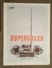 Supergrass Pumping on your  1999 press advert Full page 30 x 40 cm mini poster