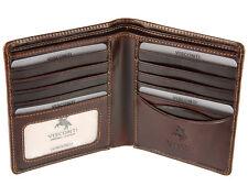 Visconti Uomo Bifold real Italian leather wallet per carte di credito, note-ENO2