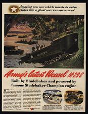 1944 STUDEBAKER WWII Weasel M29C Amphibious Vehicle - VINTAGE AD