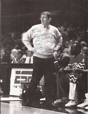 LOU CARNESECCA Hand Signed 8x11 1/2 Photo - St Johns Coach - Free S/H in the US