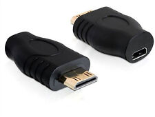 Gold Plated HDMI Male to Micro HDMI Female Connector Coupler Adapter Converter