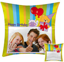 Cushion with photos and text-Gift Idea Birthday/Happy Birthday/Party/
