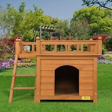 Pet House Wooden Cat Room Dog Kennel Small Pet Cat Shelter Indoor Outdoor New