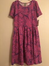 Lularoe Amelia Dress NWT XL Purple Jack Skellington Nightmare Before Christmas