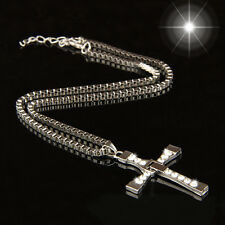 Deluxe  Man Silver  Cross  Chain  Fast And Furious fix