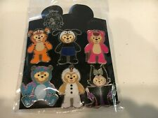 Hkdl Duffy Bear In Costumes Set Lot Of 6 *New* Disney Pins