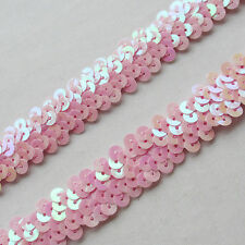 10Y Beautiful Sequin Elastic Stretch Ribbon Trim Craft Sewing Trimming New Upick