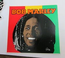 BOB MARLEY STICKER COLLECTiBLE RARE VINTAGE 90'S METAL  WINDOW DECAL