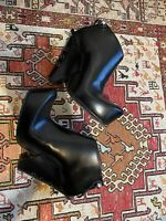 Marc Jacobs NIB Black Leather Heeled Ankle Boots - Size 40