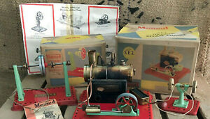 MAMOD STEAM ENGINE SE2 STATIONARY (MALINS) 1950/60's WITH BOX and ACCESSORIES